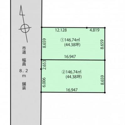 新着☆売土地情報☆的場町2区画☆各44.38坪☆函館での新築に最適♬