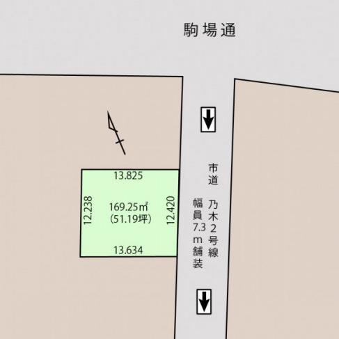 売土地(媒介)☆乃木町☆51.19坪☆建築条件付