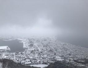 今年の函館山は豪雪。。。