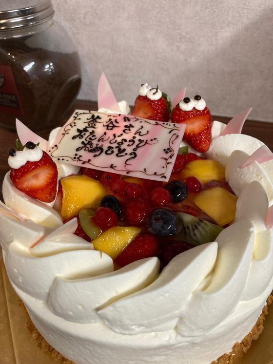 石川町 ふうげつどう様の素敵なケーキ♪