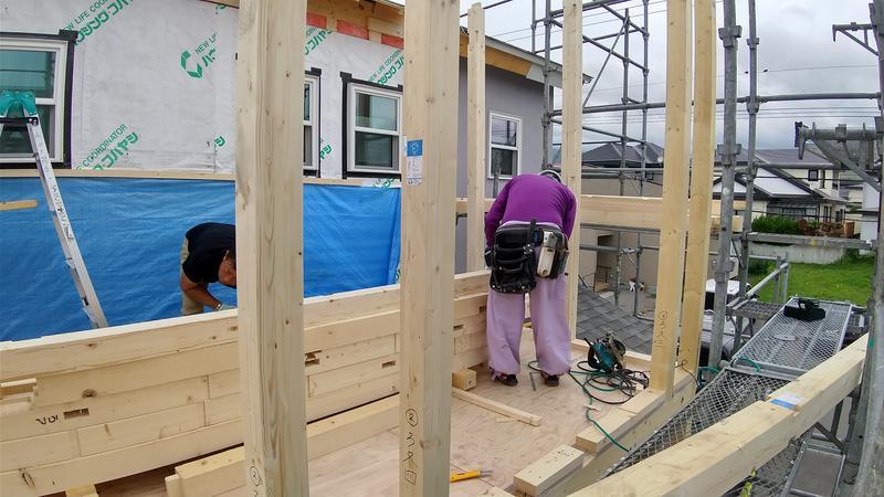 七飯町にて増築工事が着々と進行中! リフォームショップ 函館